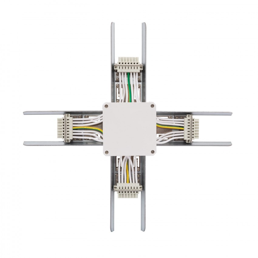 Conector Tipo X para Barra Lineal LED Trunking