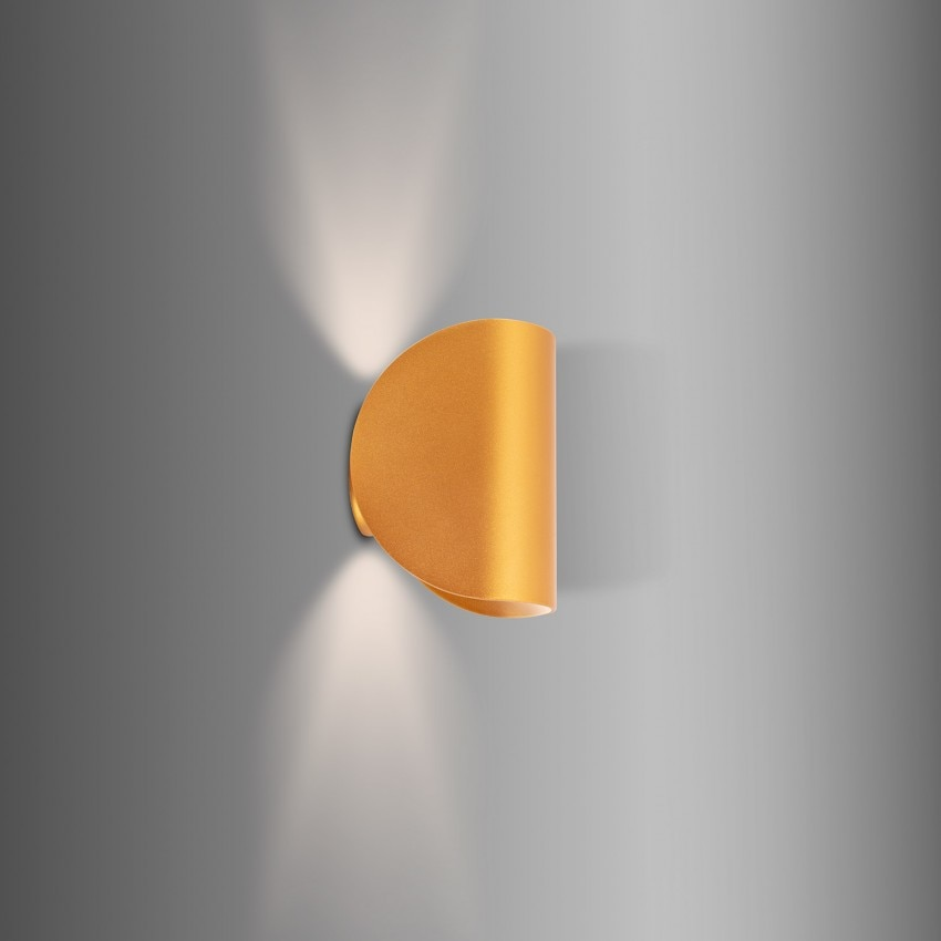 Aplique LED Gaia 6W Dourado Iluminação Dupla