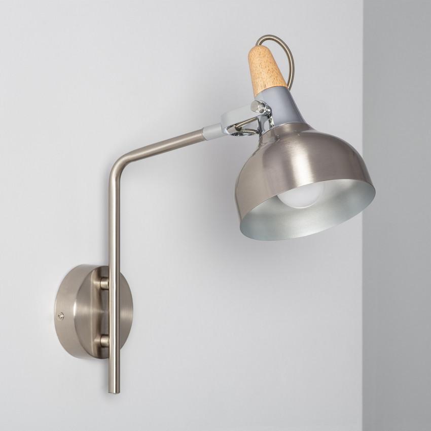 Lámpara de Pared Orientable Emer 1 Foco Plata