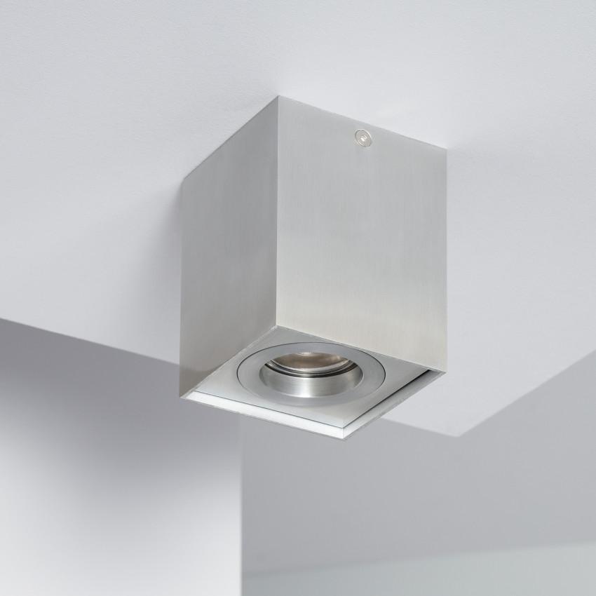 Aplique Tecto Jaspe Aluminio Prata
