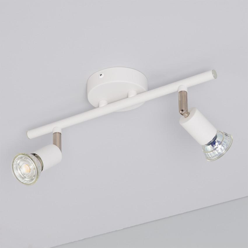 Lámpara de Techo Orientable Oasis 2 Focos Blanco