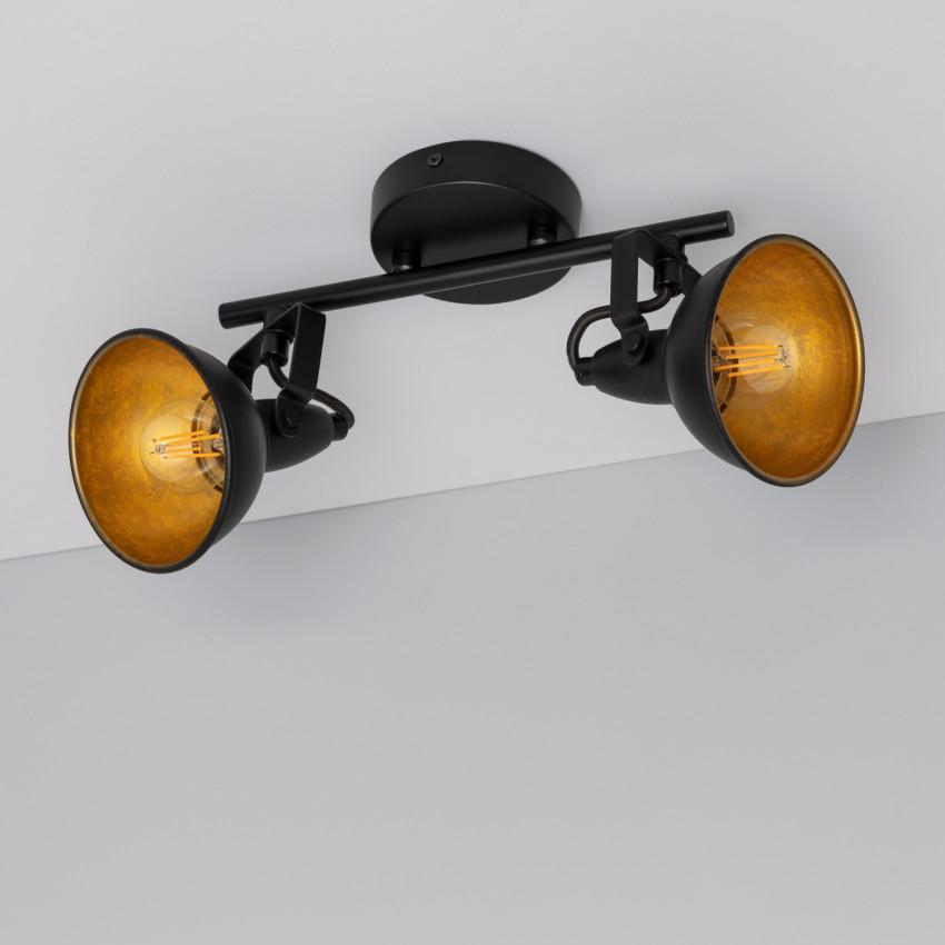 Lámpara de Techo Orientable Emer 2 Focos Negro