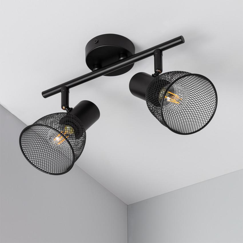 Lámpara de Techo Orientable Grid 2 Focos