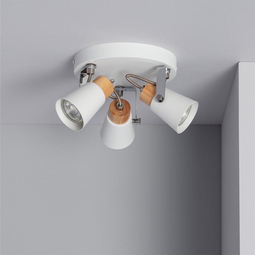 Lámpara de Techo Circular Orientable Mara 3 Focos Blanco