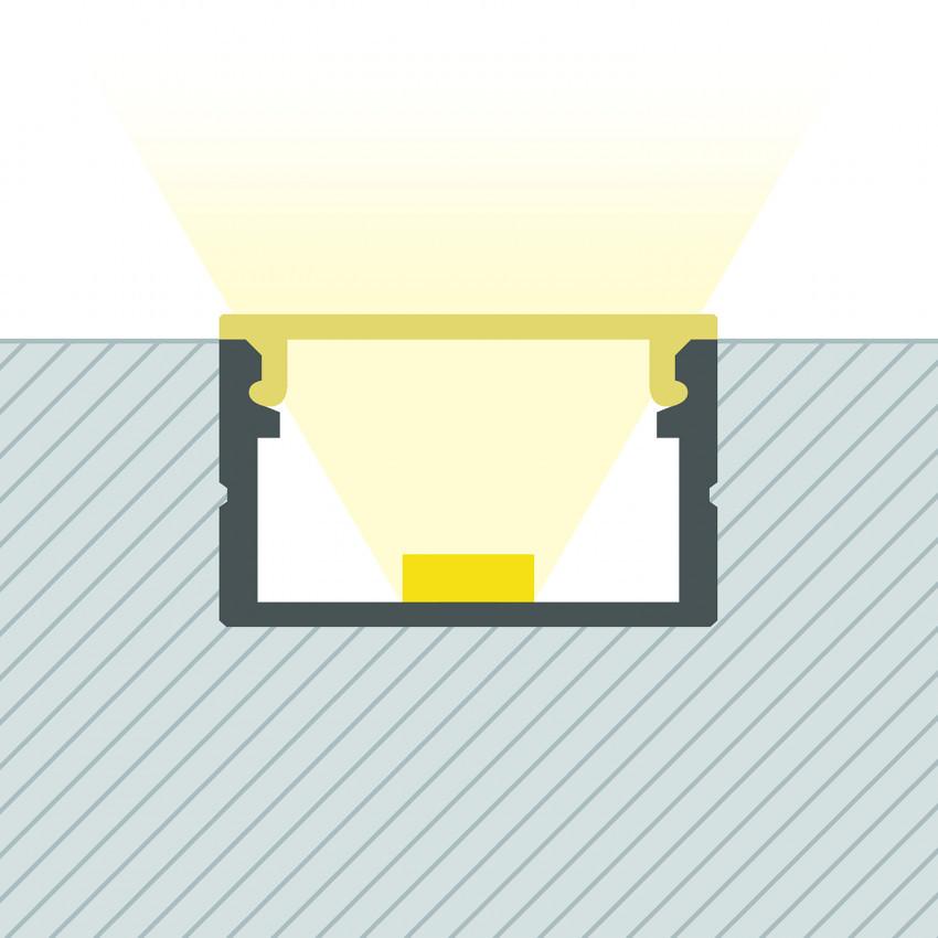 Perfil de Aluminio de Superficie con Tapa Continua para Tiras LED hasta 16 mm