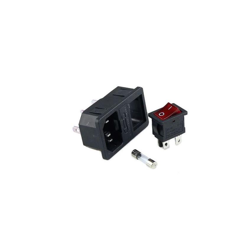 Enchufe con Interruptor 15A IEC320 C14