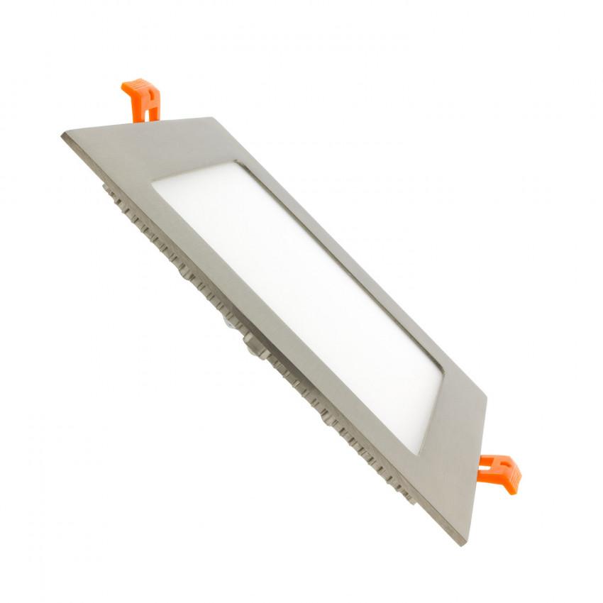 Placa LED 12W Cuadrada SuperSlim LIFUD Silver Corte 155x155 mm No Flicker