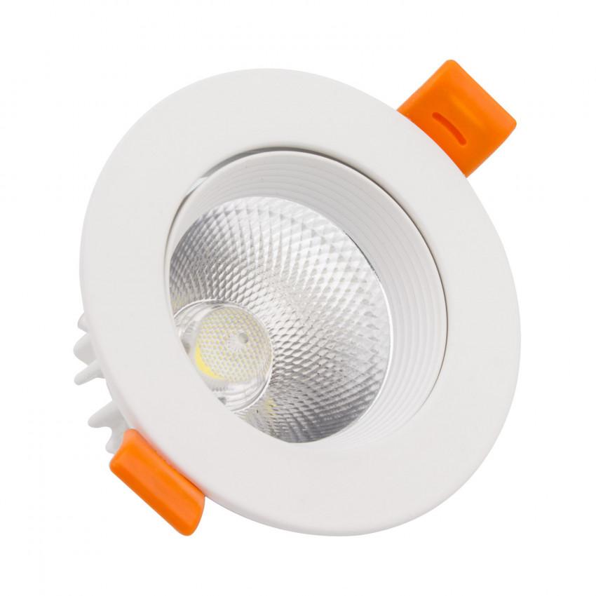 Foco Downlight LED 15W COB Direccionable Circular Blanco Corte Ø90 mm CRI92 Expert Color No Flicker