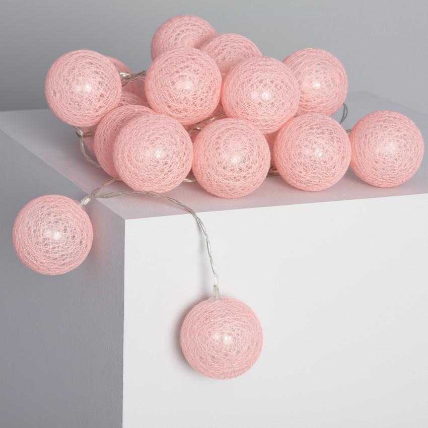 Grinalda 20 Bolas LED Pink Sugar