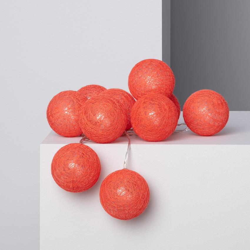 Guirnalda 10 Bolas LED Red Sugar 1.65m/2.85m
