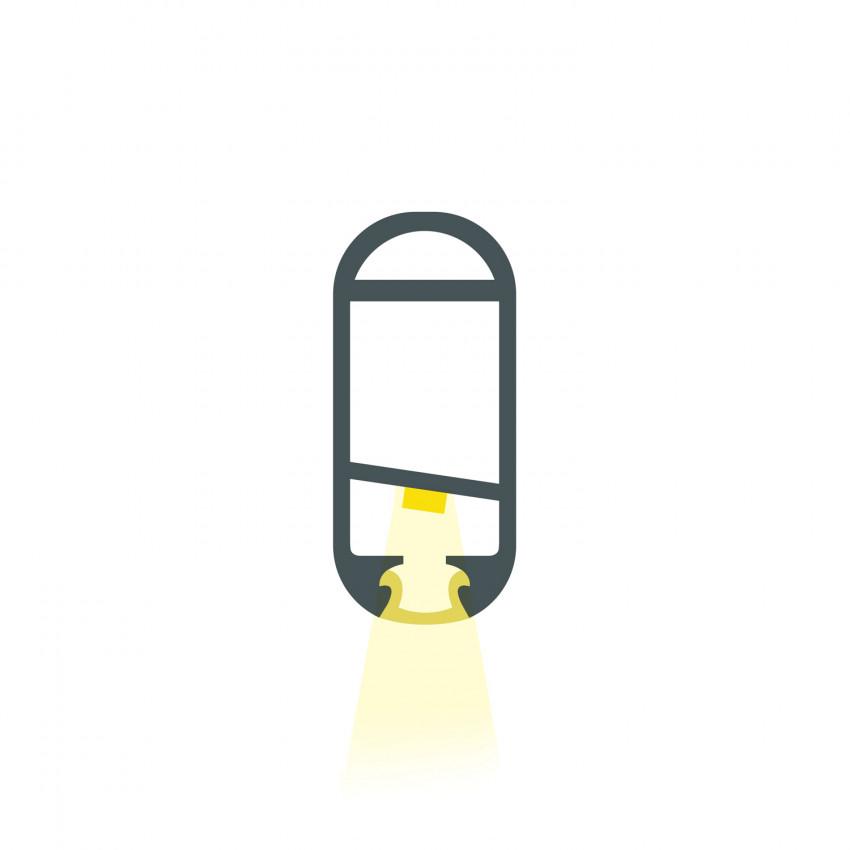Perfil de Aluminio Barra Colgar Ropa para Armario 1m para Tiras LED hasta 12 mm