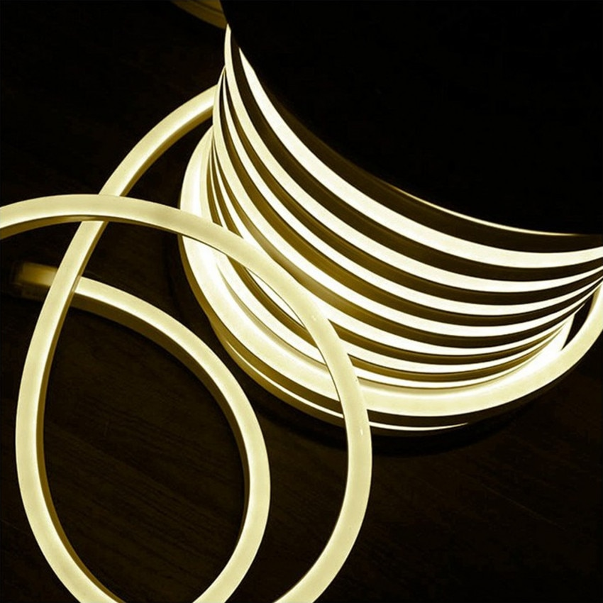Rolo Neon LED Flexível 120LED/m Branco Quente 50 Metros