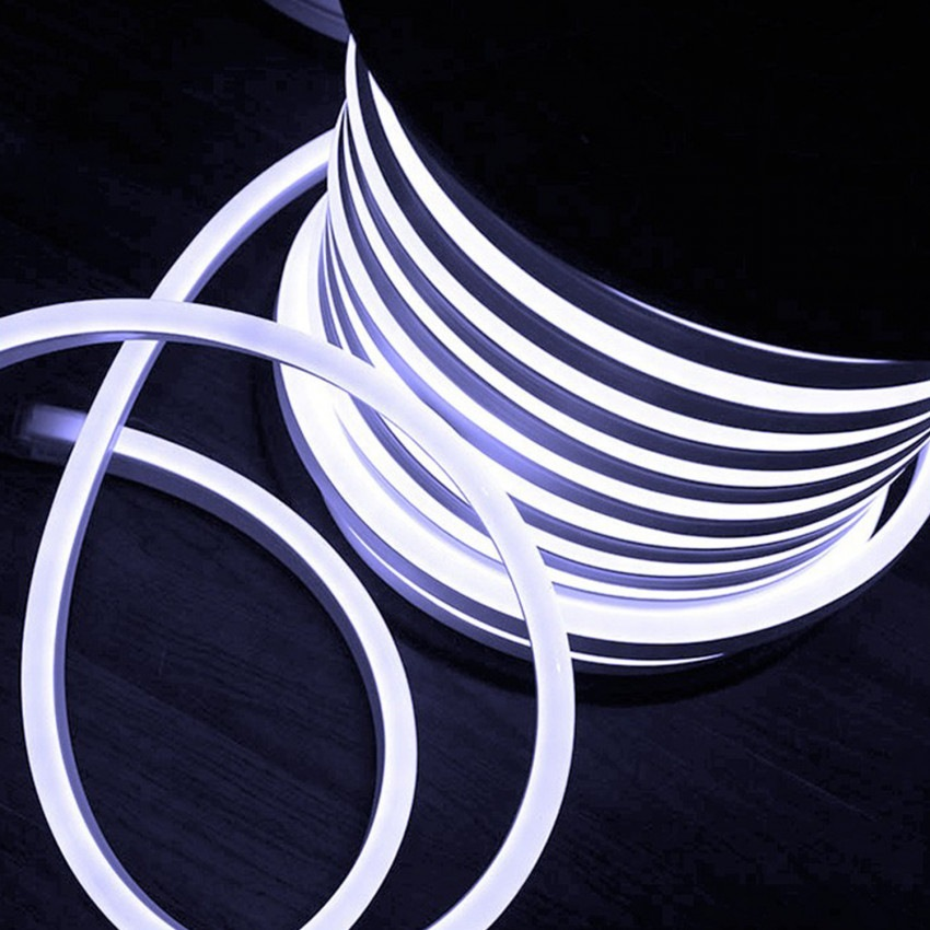 Rolo Neon LED Flexível 120LED/m Branco Frío 50 Metros