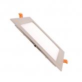 Placa LED Cuadrada SuperSlim 15W Marco Plata