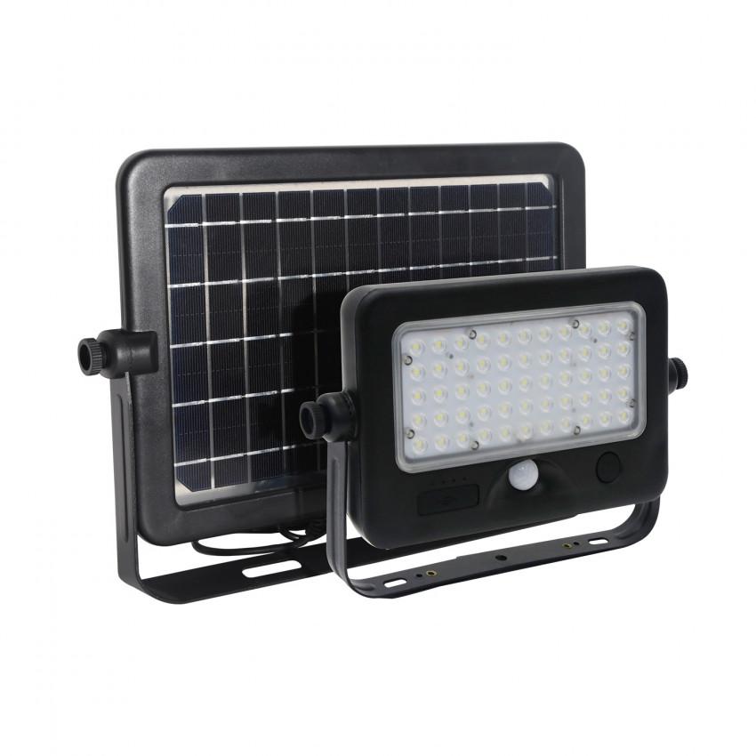 Foco Projector LED Solar com Sensor de Movimento PIR e Crepúsculo 10W Painel Separado