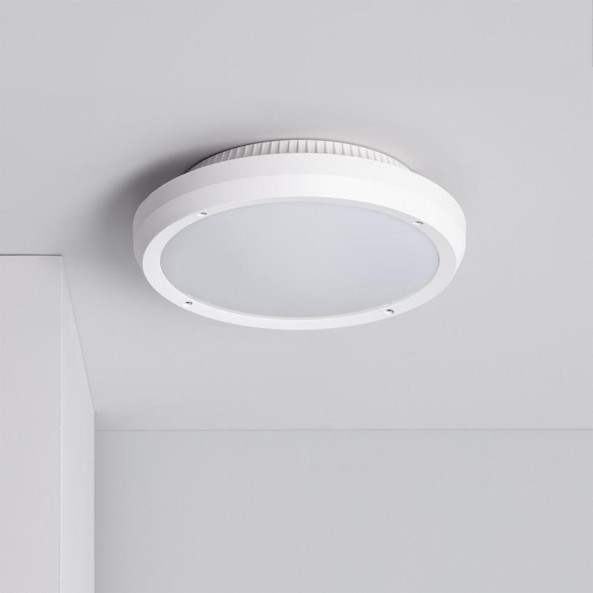 Plafón Circular Curio IP65 Branco