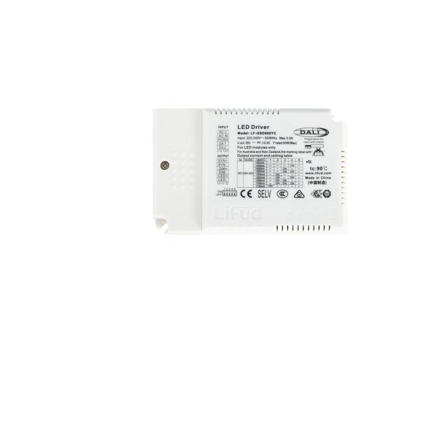 Driver LIFUD Regulable DALI 1-10V 5 en 1 Salida 25-42V DC 63W No Flicker LF-GSD