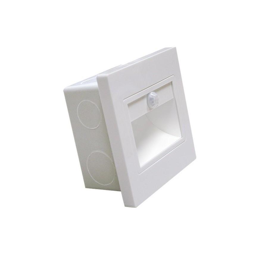 Baliza LED com Sensor PIR Acabamento Branco