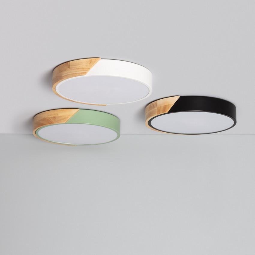 Plafón LED 18W Circular Semi-Dari CCT Seleccionable