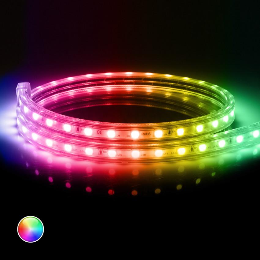 Tira LED RGB 220V AC 60 LED/m IP65 a Medida Corte cada 100cm