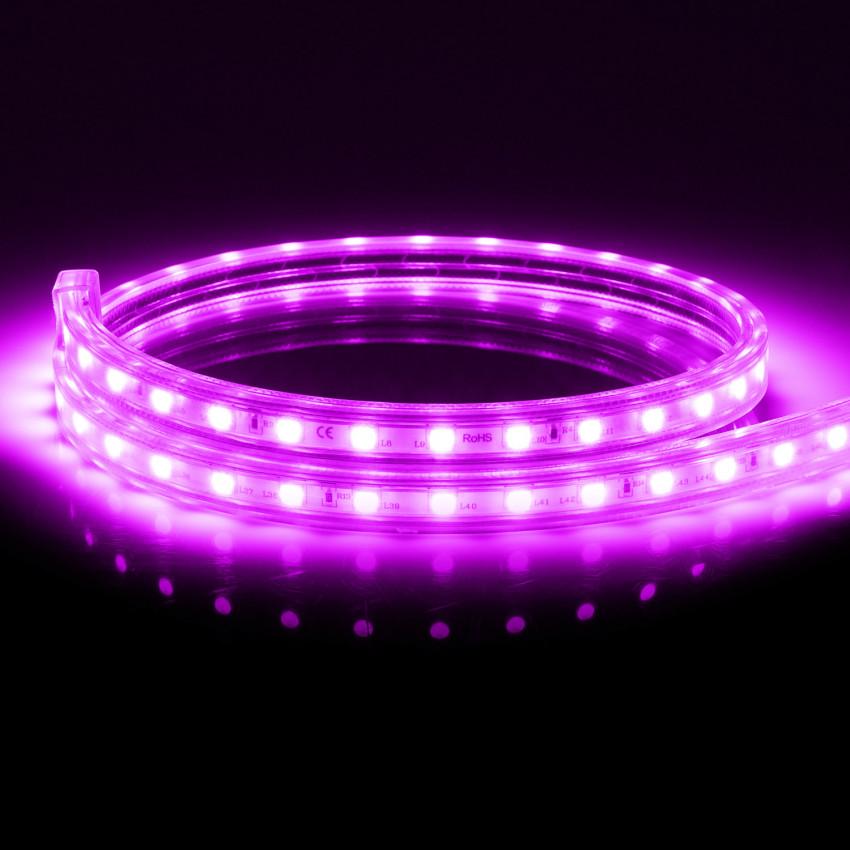 Fita LED Smart WiFi 220V AC 60 LED/m Violeta IP65 à Medida