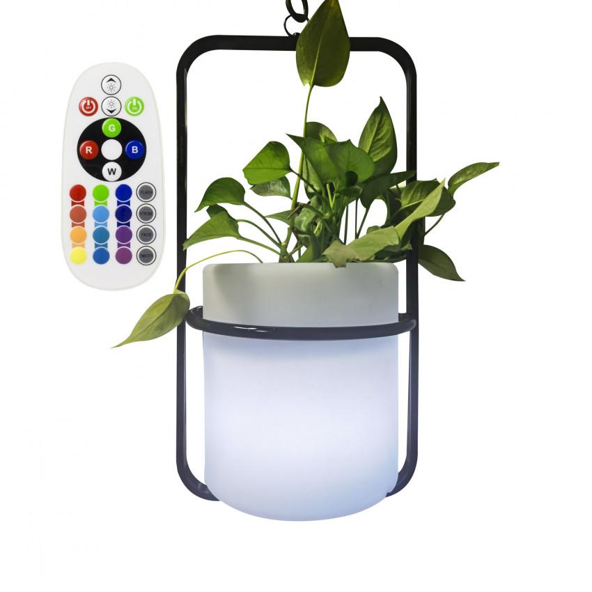 Vaso LED RGBW Suspenso 24cm Recarregável IP65