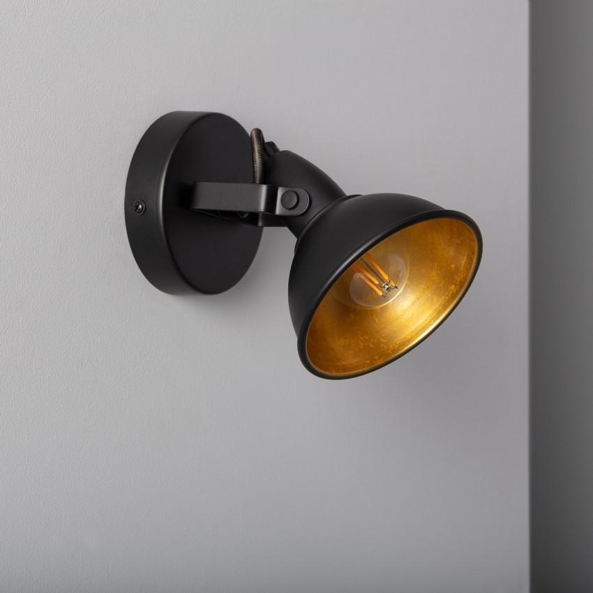 Lámpara Orientable Emer 1 Foco Negro
