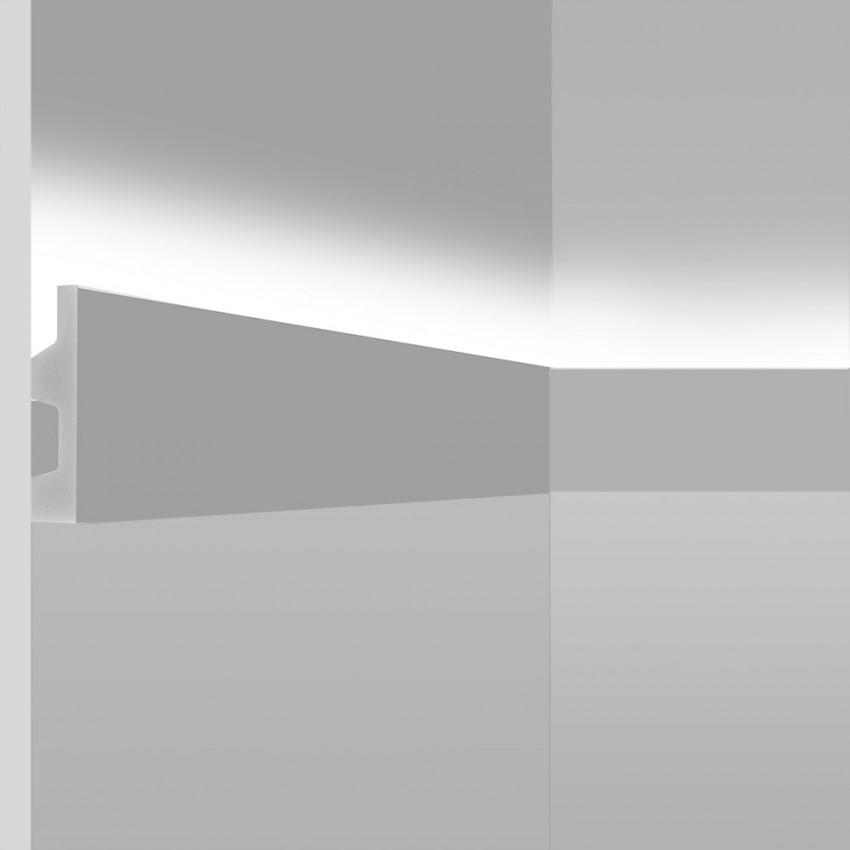 Moldura de Superficie Iluminación Difusa 2m para Tira LED