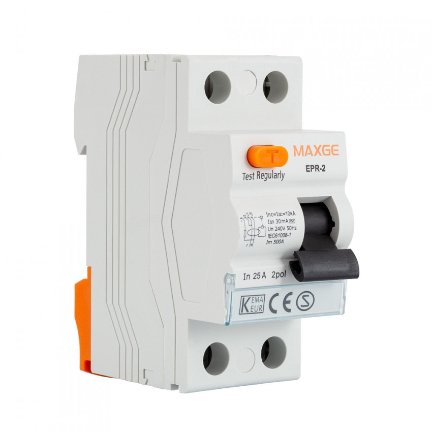Interruptor Diferencial Residencial MAXGE 2P-30mA-Clase AC-10kA