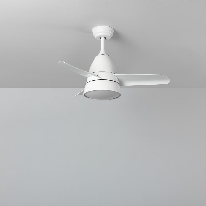 Ventoinha de Teto LED Industrial Branco 91cm Motor AC