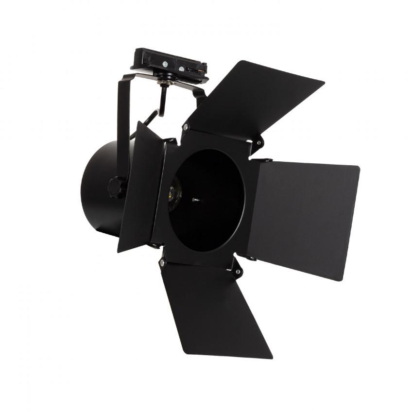 Foco Portalámparas de Carril Bifásico Cinema para bombillas E27 PAR30