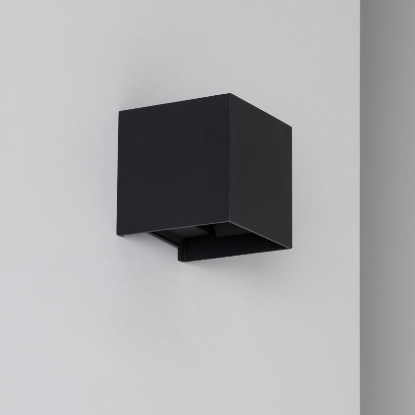 Aplique LED Eros 6W Preto Iluminação Dupla