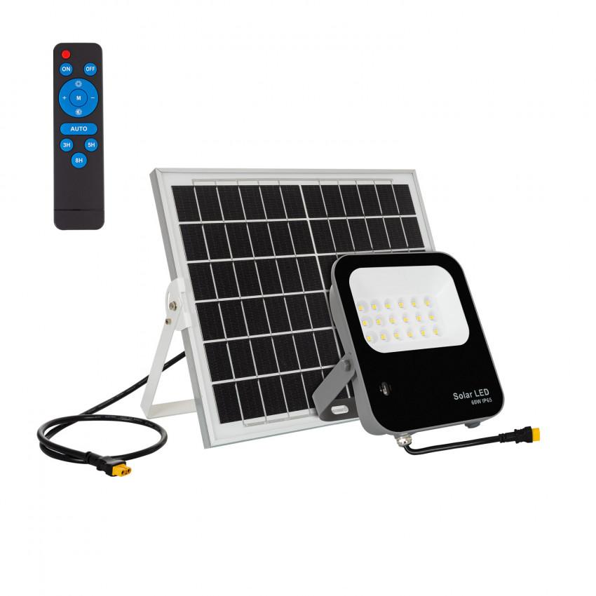 Foco Projetor LED 60W Solar 170lm/W IP65 com Controlo Remoto