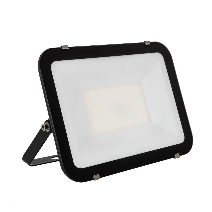 Foco Proyector LED 100W 120lm/W Slim Cristal Negro
