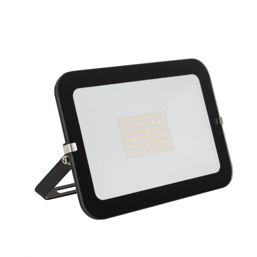 Foco Proyector LED 50W 120lm/W Slim Cristal Negro