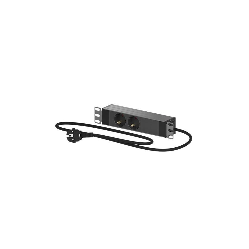 "PDU Regleta eléctrica 2 tomas 10"" para Mini Rack 10'' OPENETICS 26005"
