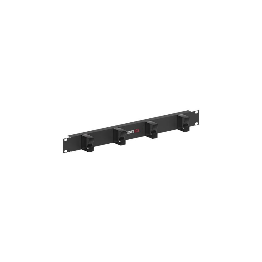 Panel Guía Cables Horizontal con 4 Liras Plásticas (1 U) OPENETICS 5520