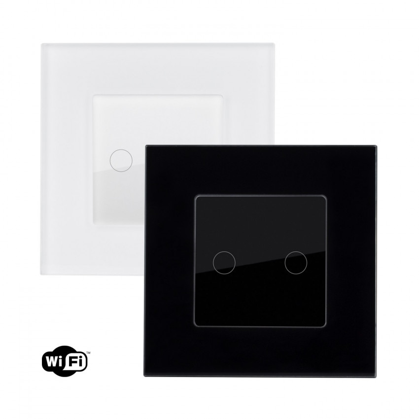 Interruptor Táctil Duplo Smart Wifi com Moldura de Vidro Modern
