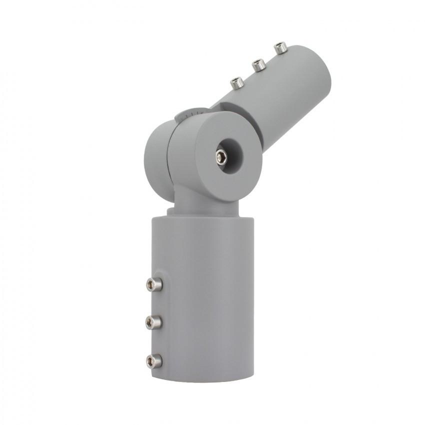 Brazo de Columna Direccionable 90º Ø40 mm para Luminarias de Alumbrado Público Gris