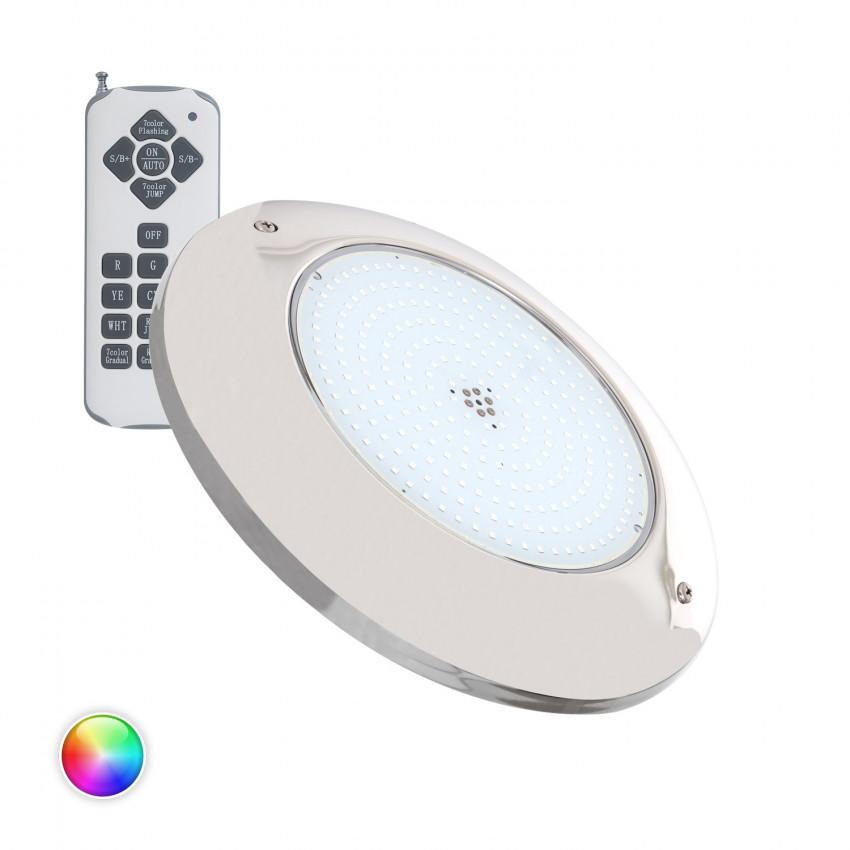 Foco Piscina LED Superficie RGB 12V AC Aço Inoxidável 20W