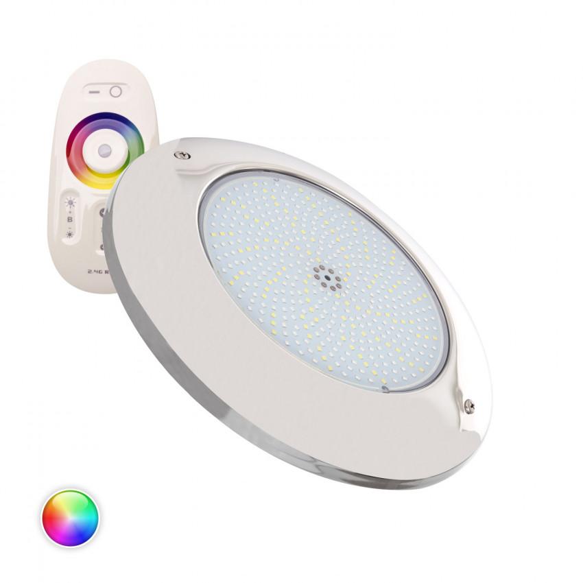Foco Piscina LED Superficie RGBW 12V DC Aço Inoxidável 35W