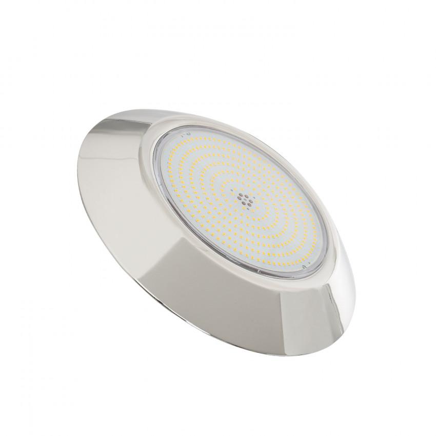 Foco Piscina LED Superfície Premium 3000K 12V AC/DC Aço Inoxidável 24W IP68