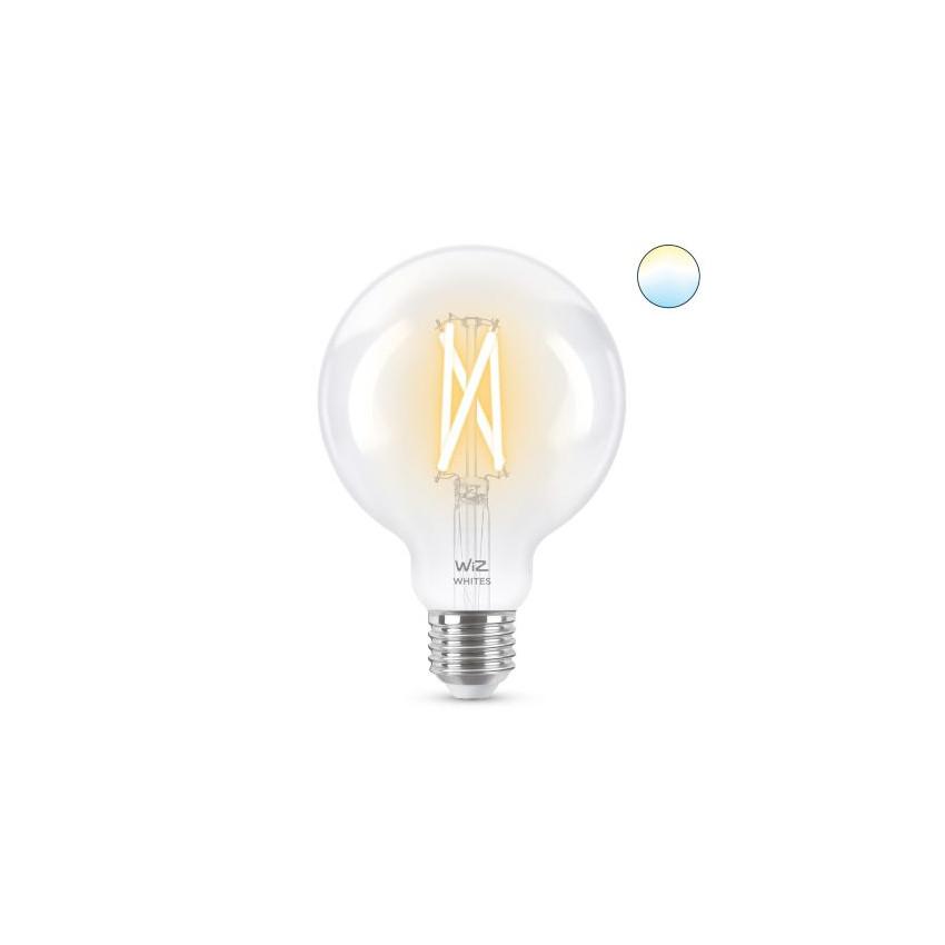 Bombilla LED Smart WiFi E27 G95 CCT Regulable WIZ Filamento 6.7W