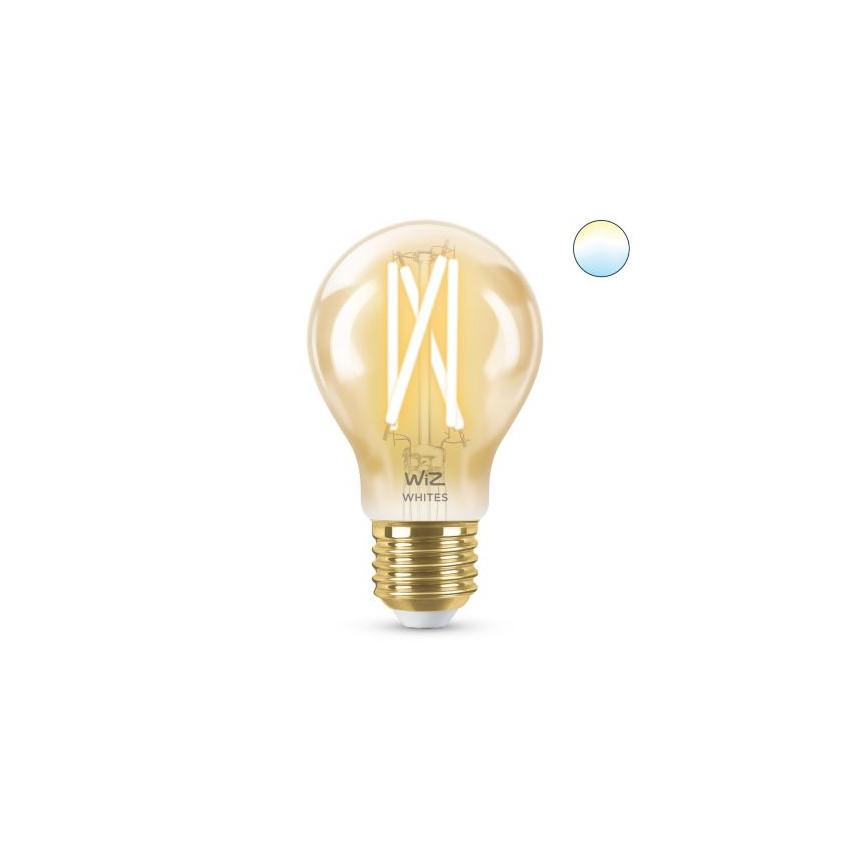 Bombilla LED Smart WiFi E27 A60 CCT Regulable WIZ Filamento Vintage 6.7W
