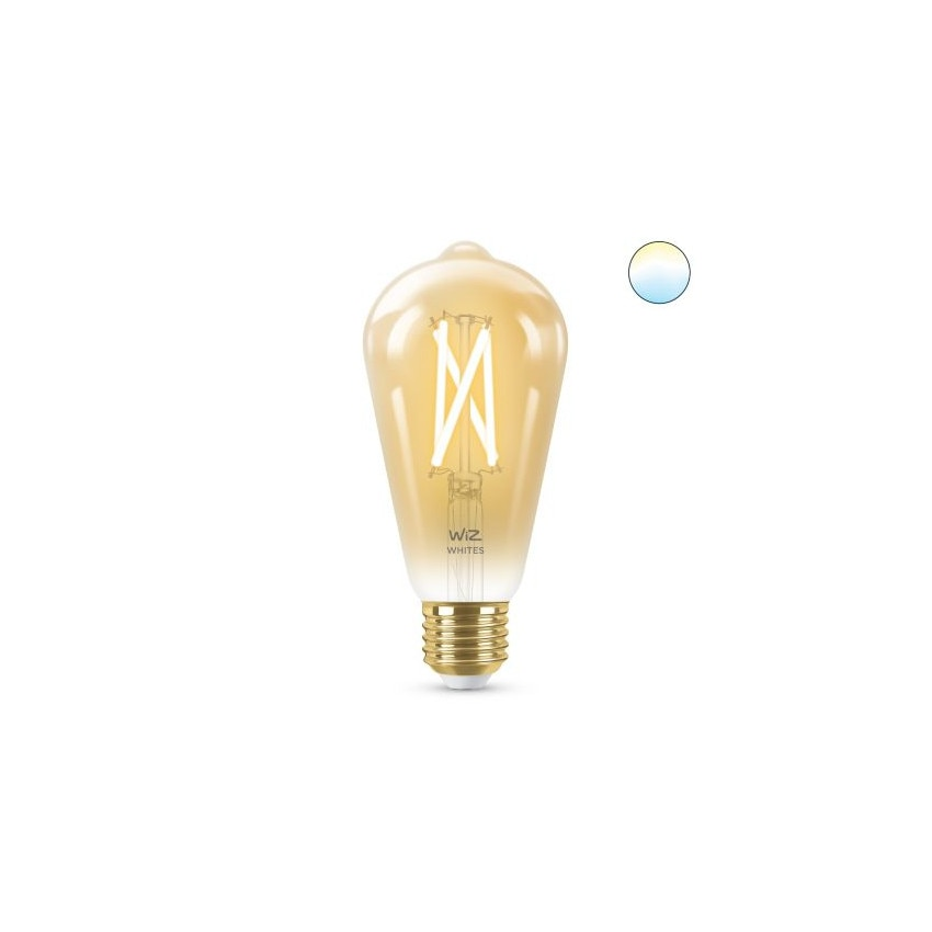 Bombilla LED Smart WiFi E27 ST64 CCT Regulable WIZ Filamento Vintage 6.7W