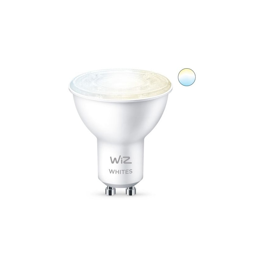 Pack 2 Bombillas LED Smart WiFi + Bluetooth GU10 PAR16 CCT Regulable WIZ 4.9W
