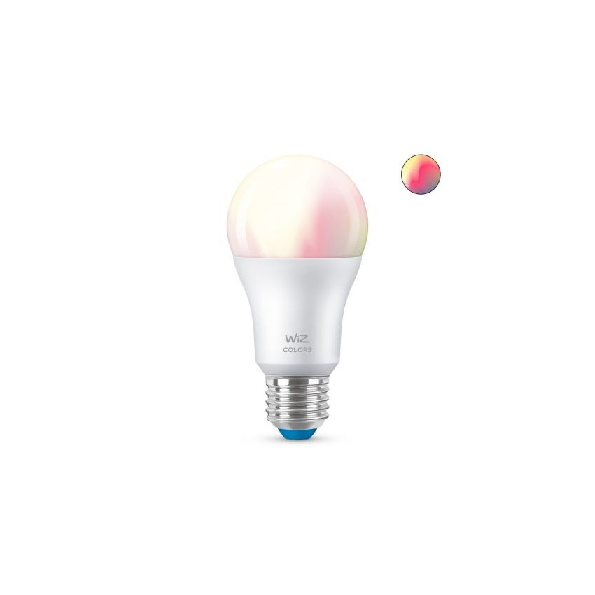 Bombilla LED Smart WiFi + Bluetooth E27 A60 RGB+CCT Regulable WIZ 8W