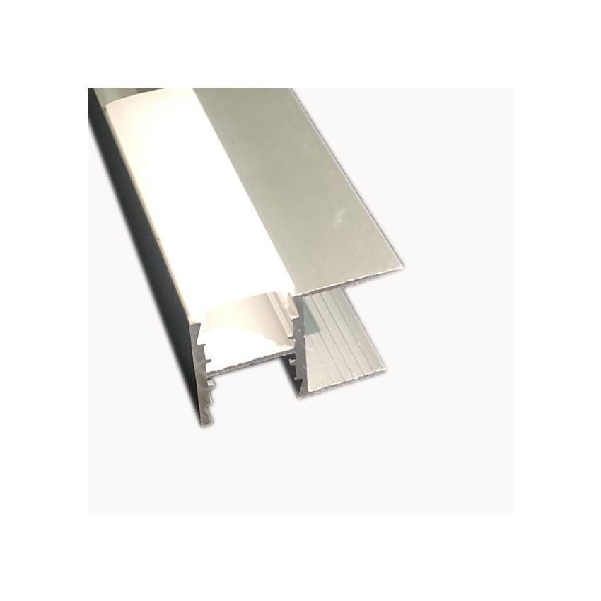 Perfil de Aluminio para Estantería con Tapa Continua para Tira LED hasta 12 mm