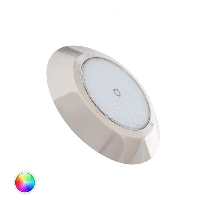 Foco Piscina LED Superficie Premium RGBW 12V DC IP68 Acero Inoxidable 24W