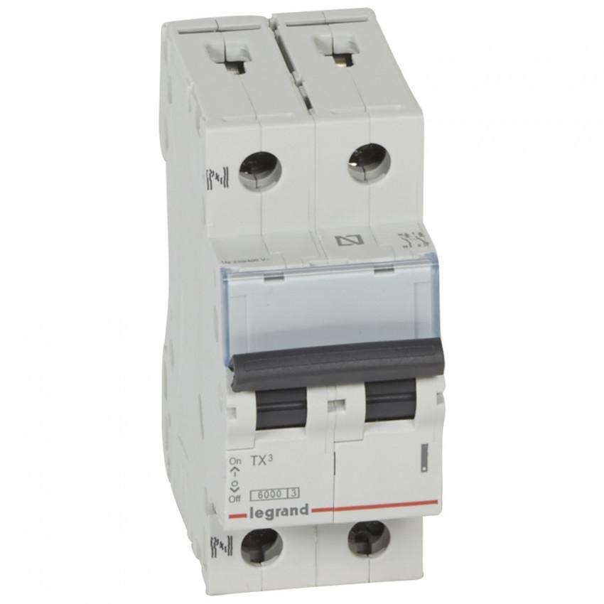 Interruptor Automático Magnetotérmico TX3 Terciario 1P+N Curva C 6kA 10-40 A LEGRAND 403585